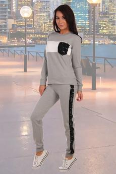 Костюм с пайетками: брюки и джемпер Натали