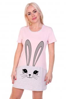 Розовая туника с кроликом Вилана