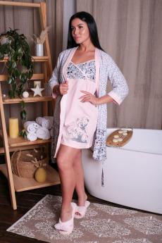 Комплект: сорочка и халат ElenaTex